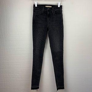 Levi's 720 High Rise Super Skinny Gray Jeans